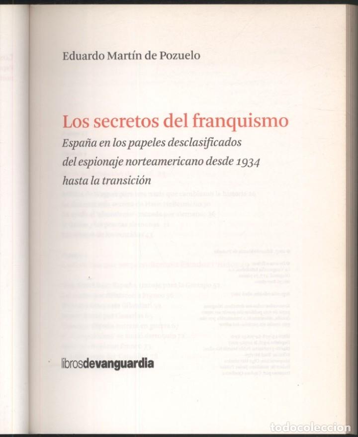 Libros de segunda mano: LOS SECRETOS DEL FRANQUISMO .- Eduardo Martin de Pozuelo - Foto 2 - 179037253