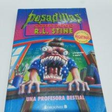 Libros de segunda mano: UNA PROFESORA BESTIAL (PESADILLAS. SERIE 2000) R.RL. STINE. Lote 179039662