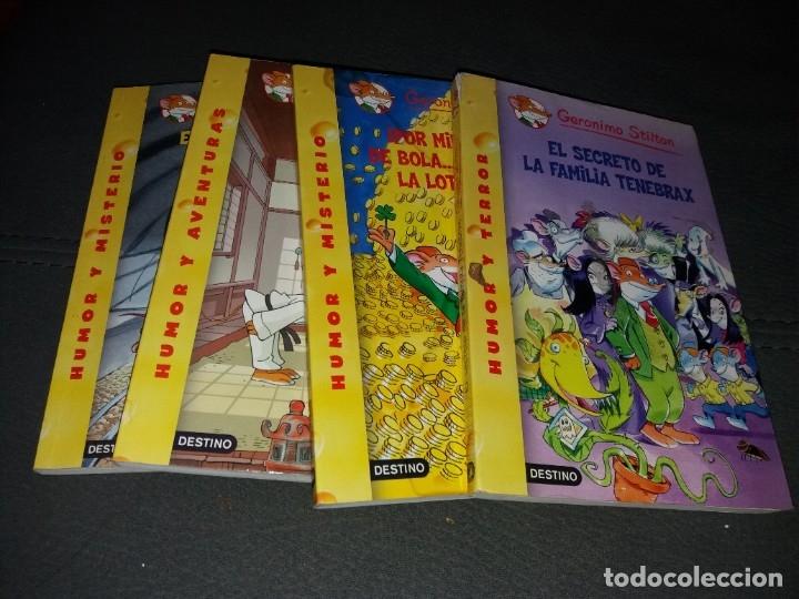 LOTE DE 4 LIBROS DE GERONIMO STILTON (Libros de Segunda Mano - Literatura Infantil y Juvenil - Otros)