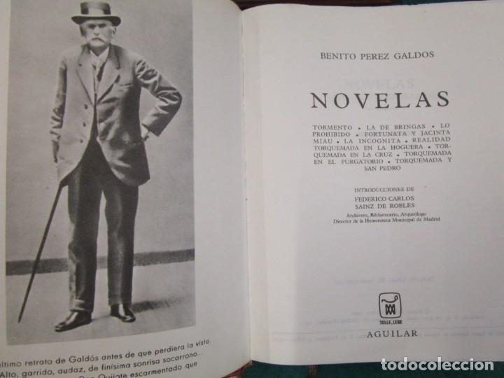 Libros de segunda mano: Perez Galdós Benito - Obras Completas. Novelas I/ II/III y Miscelánea 1970 edi Aguilar + info. - Foto 2 - 13814023