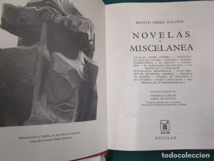 Libros de segunda mano: Perez Galdós Benito - Obras Completas. Novelas I/ II/III y Miscelánea 1970 edi Aguilar + info. - Foto 3 - 13814023