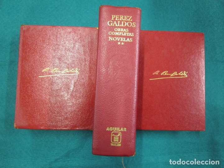 PEREZ GALDÓS BENITO - OBRAS COMPLETAS. NOVELAS I/ II/III Y MISCELÁNEA 1970 EDI AGUILAR + INFO. (Libros de Segunda Mano (posteriores a 1936) - Literatura - Otros)