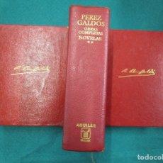 Libros de segunda mano: PEREZ GALDÓS BENITO - OBRAS COMPLETAS. NOVELAS I/ II/III Y MISCELÁNEA 1970 EDI AGUILAR + INFO.. Lote 13814023