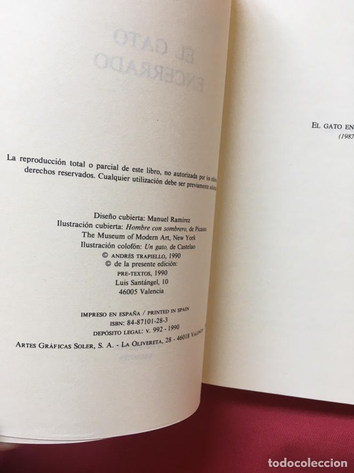 Libros de segunda mano: El gato encerrado, Trapiello, Primera edición - Foto 3 - 179120668