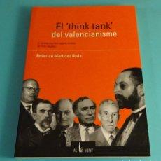 Libros de segunda mano: EL THINK TANK DEL VALENCIANISME. L'INTELECTUALITAT VALENCIANISTA EN TRES SEGLES. FEDERICO MARTINEZ. Lote 179156608