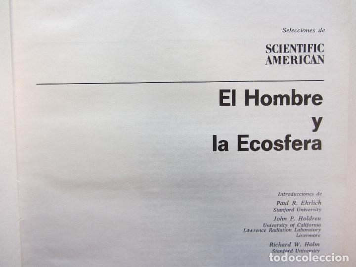 Libros de segunda mano: El hombre y la ecosfera. Paul R. Ehrlich, John P. Holdren, Richard W. Holm. Tapa dura. Ilustrado - Foto 3 - 179173695