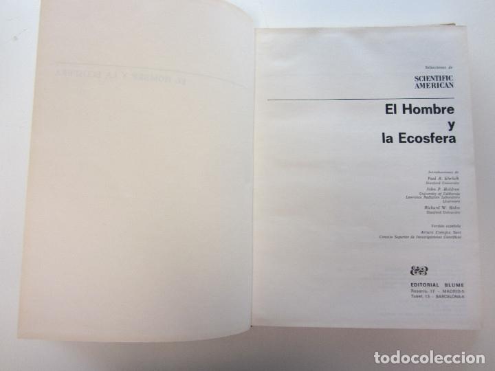 Libros de segunda mano: El hombre y la ecosfera. Paul R. Ehrlich, John P. Holdren, Richard W. Holm. Tapa dura. Ilustrado - Foto 4 - 179173695