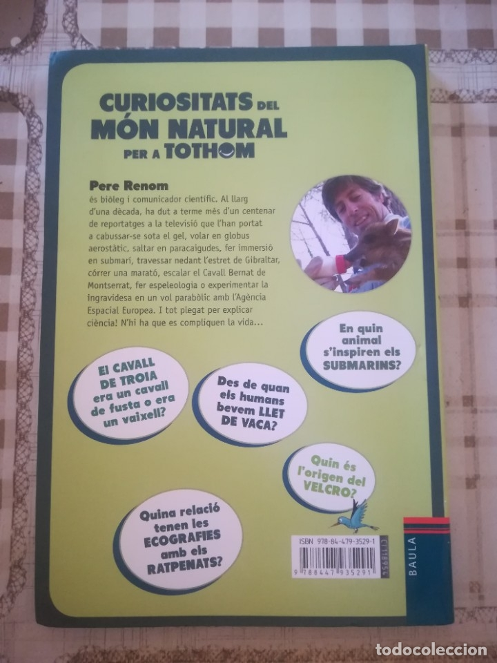 Libros de segunda mano: Curiositat del món natural per a tothom - Pere Renom / Cristina Losantos - en català - Foto 2 - 179177831