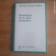 Libros de segunda mano: SEMIOLOGÍA DE LA OBRA DRAMÁTICA BOBES NAVES TAURUS PRECINTADO. Lote 179220795