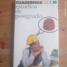 Libros de segunda mano: CUADERNOS AULA. ESTUDIOS DE POSTGRADO. PRECINTADO. Lote 179222611