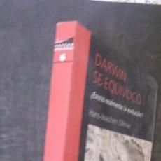 Libros de segunda mano: DARWIN SE EQUIVOCÓ-¿EXISTIÓ REALMENTE LA EVOLUCIÓN?-HANS-JOACHIM ZILLMER. Lote 179237706