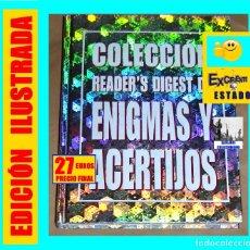 Libros de segunda mano: COLECCIÓN READER S DIGEST DE ENIGMAS Y ACERTIJOS - 2001 - EXCELENTE - SUMAMENTE ENTRETENIDO. Lote 179254017