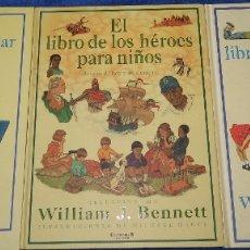 Libros de segunda mano: EL LIBRO DE LOS HÉROES - VIRTUDES - FAMILIA PARA NIÑOS - WILLIAM J. BENNETT - EDB (1998). Lote 179336675