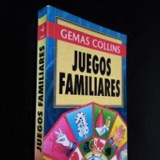 Libros de segunda mano: JUEGOS FAMILIARES | GEMAS COLLINS | EDITORIAL EDAF 1996. Lote 179345978