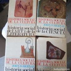 Libros de segunda mano: 4 TOMS, JOHN D BERNAL/ HISTORIA SOCIAL DE LA CULTURA AMB CATALA. Lote 179382931