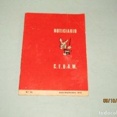 Libros de segunda mano: ANTIGUO NOTICIARIO CIRCULO ESPAÑOL DE ARTES MÁGICAS Nº 84 DE 1972. Lote 179390607