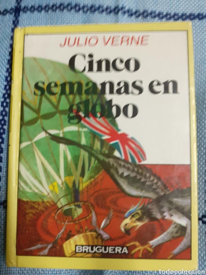 Libros de segunda mano: Libro núm. 21 CINCO SEMANAS EN GLOBO DE JULIO VERNE.- año 1985 - Foto 2 - 179517397