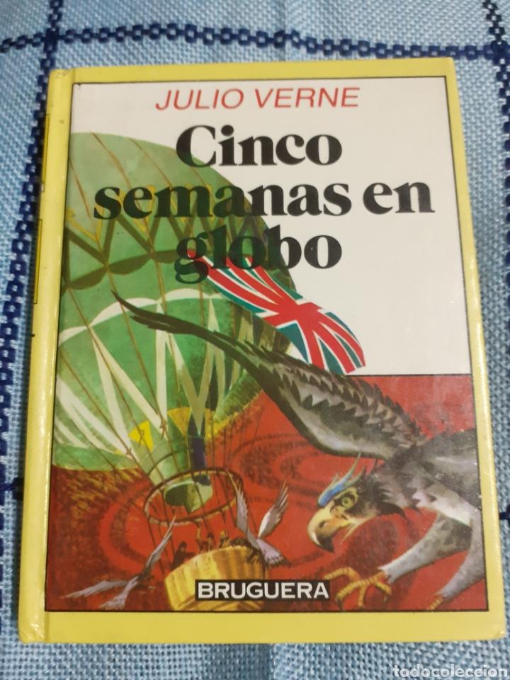 LIBRO NÚM. 21 CINCO SEMANAS EN GLOBO DE JULIO VERNE.- AÑO 1985 (Libros de Segunda Mano - Literatura Infantil y Juvenil - Otros)