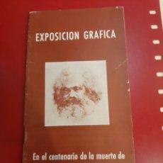 Libros de segunda mano: EXPOSICIÓN GRÁFICA EN EL CENTENARIO DE CARLOS MARX. Lote 179520793