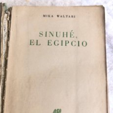 Libros de segunda mano: SINHUE, EL EGIPCIO - AÑO 1950 CON MAPA INCLUIDO. Lote 179944707