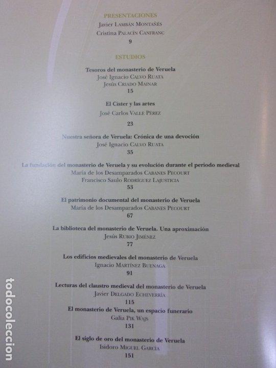 Libros de segunda mano: TESOROS DE VERUELA. LEGADO DE UN MONASTERIO CISTERCIENSE / 2006. DIPUTACIÓN DE ZARAGOZA - Foto 2 - 179946276