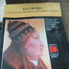 Libros de segunda mano: ELS BORJA. EN VALENCIANO. ART.548-348. Lote 180098678