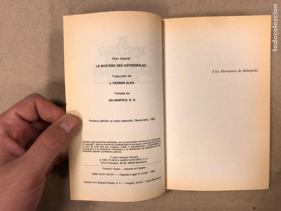 Libros de segunda mano: EL MISTERIO DE LAS CATEDRALES. FULCANELLI: PLAZA & JANÉS EDITORES 1993. 201 PÁGINAS. - Foto 3 - 180118738