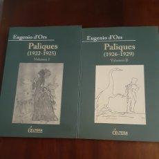 Libros de segunda mano: PALIQUES - EUGENIO D'ORS. Lote 180131618