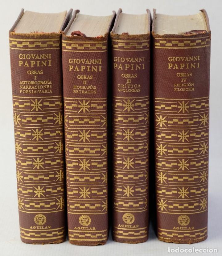 GIOVANNI PANINI, OBRAS RECOPILACIÓN Y NOTAS DE JOSE MIGUEL VELLOSO, AGUILAR EDICIONES 1962-4 TOMOS (Libros de Segunda Mano (posteriores a 1936) - Literatura - Otros)