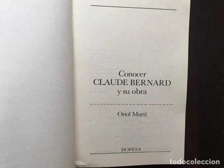 Libros de segunda mano: Conocer Claude Bernard y su obra. Oriol Martí. - Foto 3 - 180150842