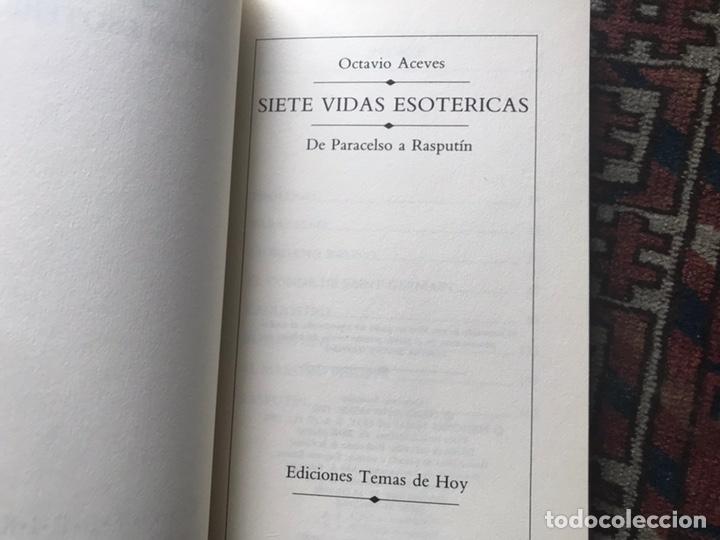 Libros de segunda mano: Siete vidas esotéricas. Buen estado - Foto 5 - 180151067