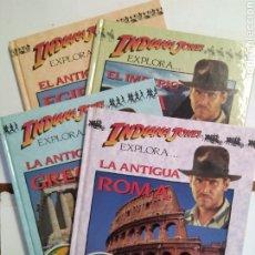 Libros de segunda mano: INDIANA JONES EXPLORA... 4 VOLÚMENES. EGIPTO. IMPERIO INCA. GRECIA. ROMA. BRUÑO. Lote 180125592