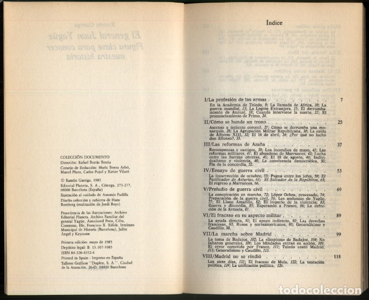 Libros de segunda mano: EL GENERAL JUAN YAGÜE .- RAMON GARRIGA - Foto 3 - 180174211