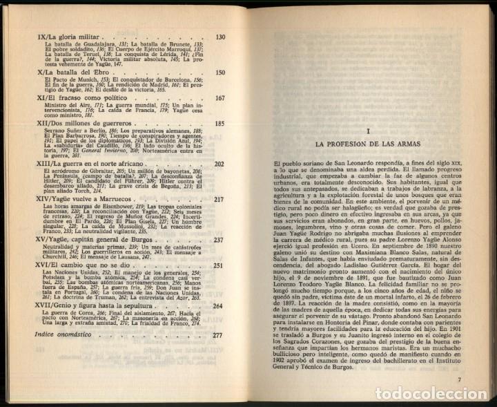 Libros de segunda mano: EL GENERAL JUAN YAGÜE .- RAMON GARRIGA - Foto 4 - 180174211