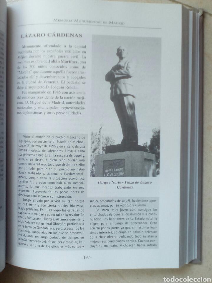 Libros de segunda mano: MEMORIA MONUMENTAL DE MADRID. GUIA DE ESTATUAS Y BUSTOS - Foto 2 - 180175935
