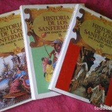 Libros de segunda mano: HISTORIA DE LOS SANFERMINES. OBRA COMPLETA 3 TOMOS. JOSÉ JOAQUÍN ARAZURI. PAMPLONA, NAVARRA.. Lote 180186196