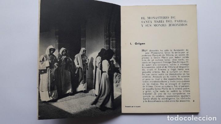 Libros de segunda mano: EL MONASTERIO DE SANTA Mª DEL PARRAL Y SUS MONJES JERÓNIMOS, 1965 - Foto 3 - 180209341