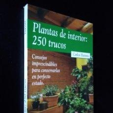 Livres d'occasion: PLANTAS DE INTERIOR: 250 TRUCOS | HERRERA, CARLOS | PLAZA & JANÉS 1999. Lote 180211406