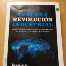 Libros de segunda mano: LA TERCERA REVOLUCIÓN INDUSTRIAL (JEREMY RIFKIN) PAIDÓS. Lote 180231378
