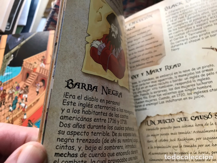 Libros de segunda mano: Piratas. Libros para construir. Con las piezas . Falta un componente . Ver fotos. - Foto 6 - 180245226