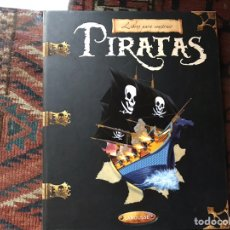 Libros de segunda mano: PIRATAS. LIBROS PARA CONSTRUIR. CON LAS PIEZAS . FALTA UN COMPONENTE . VER FOTOS.. Lote 180245226