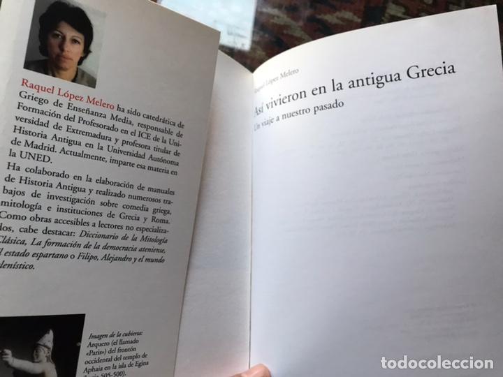 Libros de segunda mano: Así vivieron en la antigua Grecia. Raquel López. Como nuevo - Foto 3 - 180245503