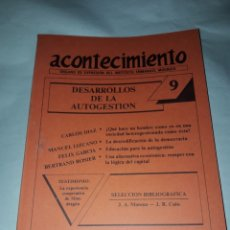 Libros de segunda mano: ACONTECIMIENTO NR 9. ÓRGANO DE EXPRESIÓN DEL INSTITUTO EMMANUEL MOUNIER. OCTUBRE 1987. Lote 180263998