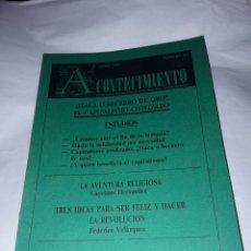 Libros de segunda mano: ACONTECIMIENTO NR.20. ÓRGANO DE EXPRESIÓN DEL INSTITUTO EMMANUEL MOUNIER. JUNIO 1991. Lote 180265277