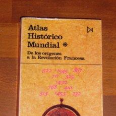 Libros de segunda mano: KINDER, HERMANN. ATLAS HISTÓRICO MUNDIAL. 1 : DE LOS ORÍGENES A LA REVOLUCIÓN FRANCESA (FUNDAMENTOS). Lote 180268823