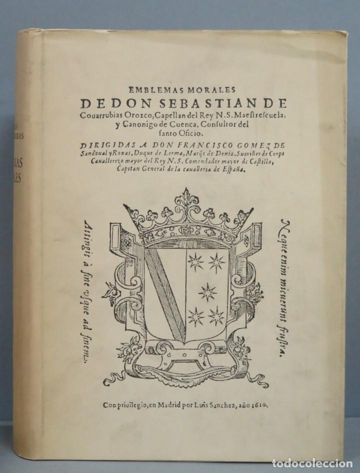 EMBLEMAS MORALES. SEBASTIAN DE COVARRUBIAS. FACSIMIL (Libros de Segunda Mano (posteriores a 1936) - Literatura - Otros)