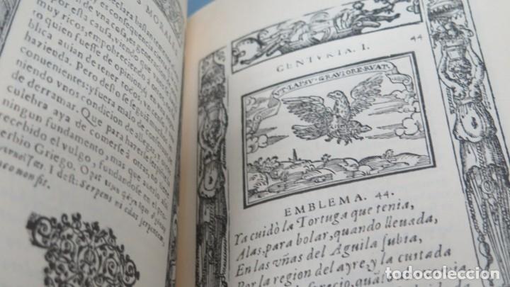 Libros de segunda mano: EMBLEMAS MORALES. SEBASTIAN DE COVARRUBIAS. FACSIMIL - Foto 2 - 180278065