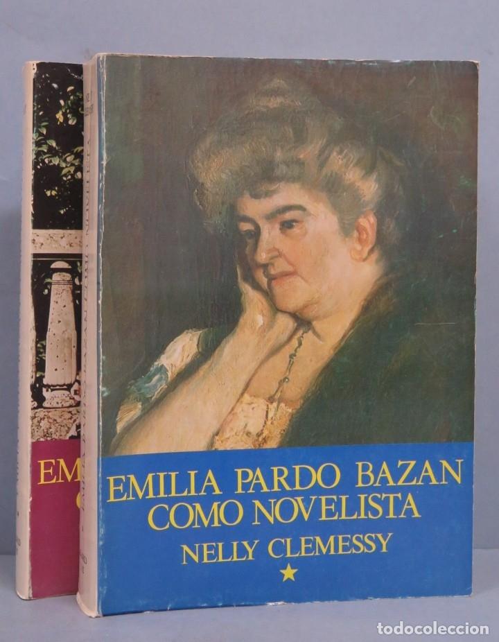 EMILIA PARDO BAZAN COMO NOVELISTA. NELLY CLEMESSY. 2 TOMOS (Libros de Segunda Mano (posteriores a 1936) - Literatura - Otros)
