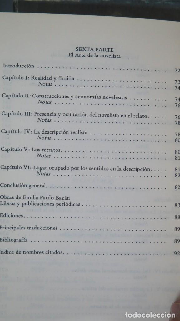 Libros de segunda mano: EMILIA PARDO BAZAN COMO NOVELISTA. NELLY CLEMESSY. 2 TOMOS - Foto 5 - 180280947