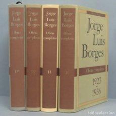Libros de segunda mano: 1992.- OBRAS COMPLETAS. JORGE LUIS BORGES. CIRCULO DE LECTORES. 4 TOMOS. Lote 180281260